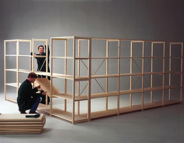 Goede houten stellingen en houten legbordstellingen. Scanda-serie IE-29