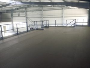 Vloerbodem-bevloering entresolvloer. Project Noordrek BV