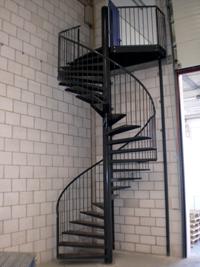 metalen trap wenteltrap voor uw tussenvloer van Noordrek