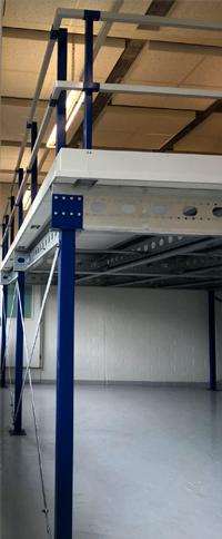 Leuningconstructie met schoprand entresolvloer